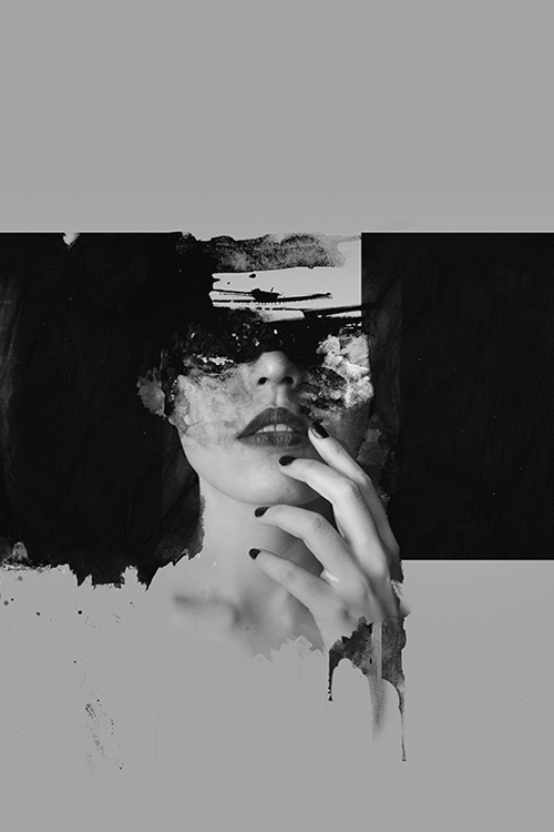 Distorted female portraits by Nuestra / Januz Miralles