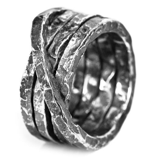 Denis Music, Jewelry, Ring, avantgarde, silver