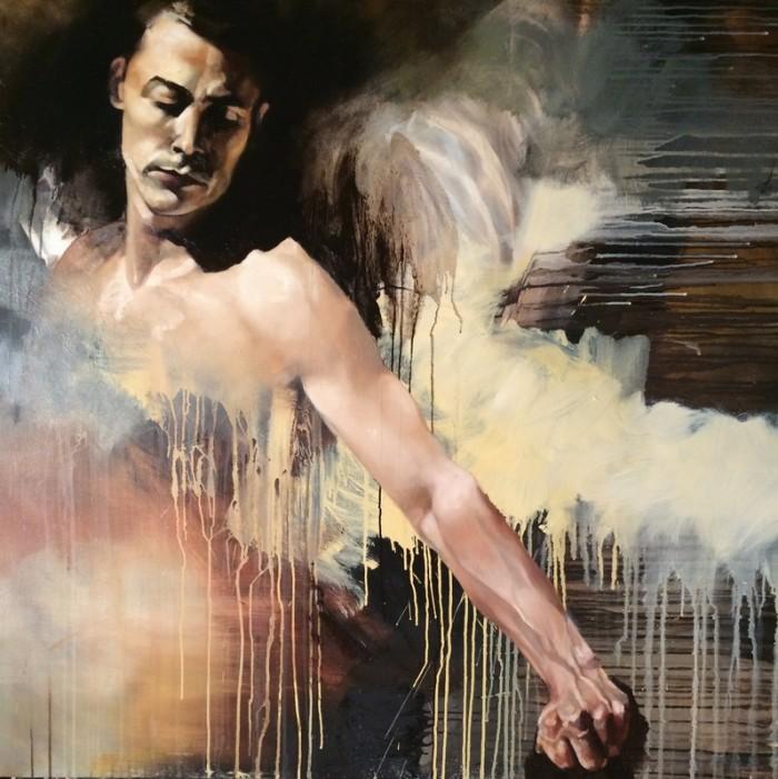 Margarita Georgiadis, painting, oil, dark, obscure, art