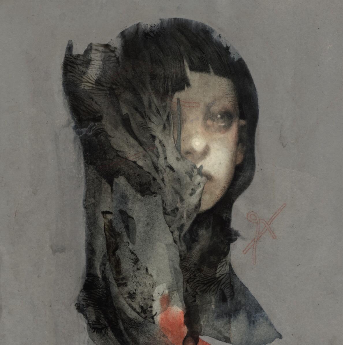 Joao Ruas , Feral Kid, painting, illustration, dark, obscure