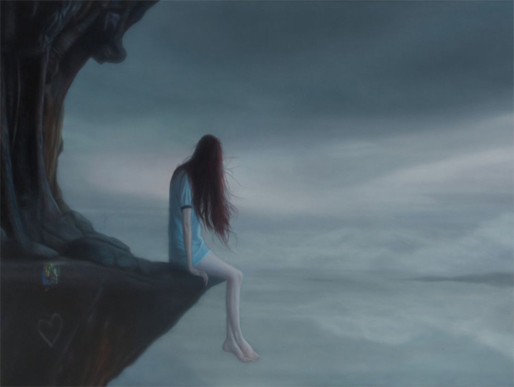 Seamus Conley, painting, dark, obscure, loneliness, oil