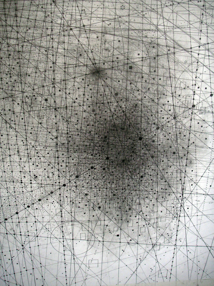 Emma McNally, pencil, graphite, dark, obscure, abstract,