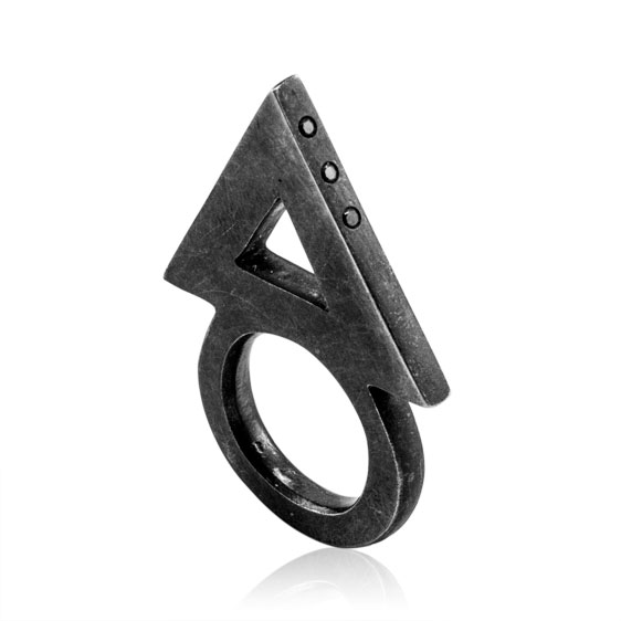 Young Hunting, jewellery, ring, dark, obscure, silver