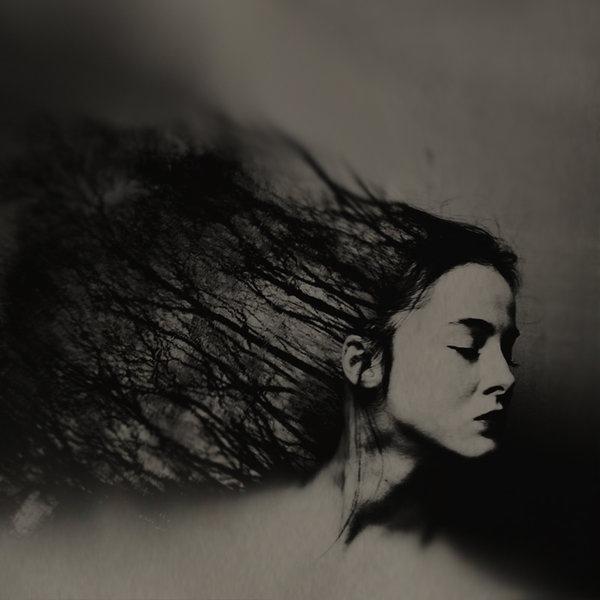 Oana Stoian, photography, double exposure, dark, obscure, sepia