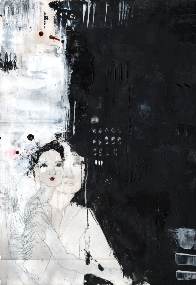 Farah Willem, paint, painting, dark, obscure