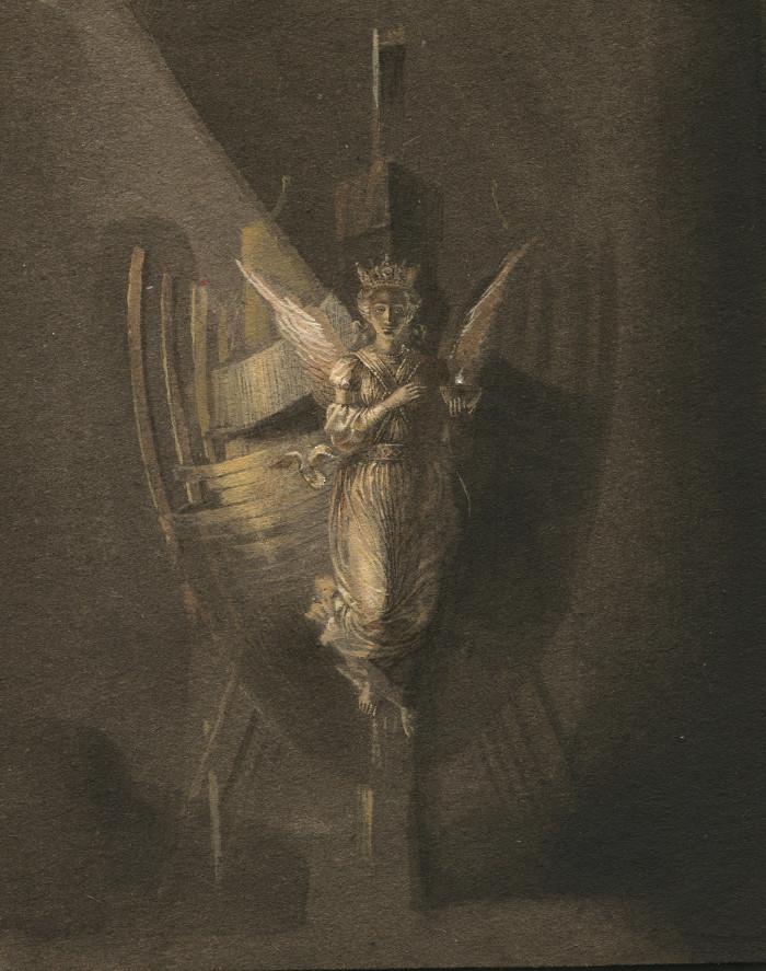 Natalia Smirnova, painting, obscure, dark
