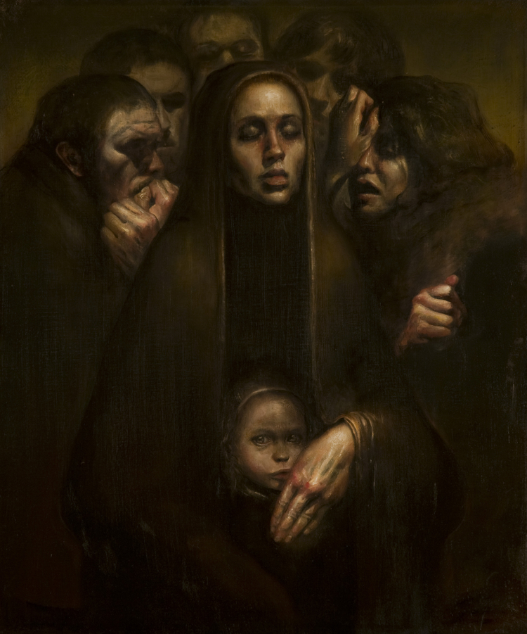 Luke Hillestad, paintng, dark, obscre, classic