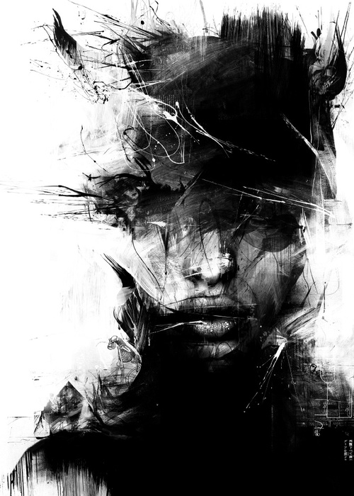 Russ Mills, illustration, dark, art, digital paint