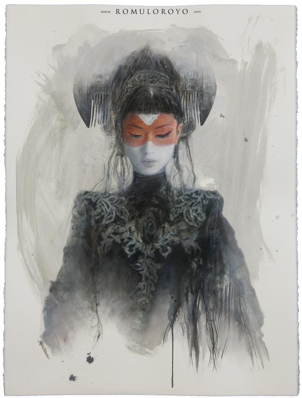 Romulo Royo, paint, painting, dark, obscure