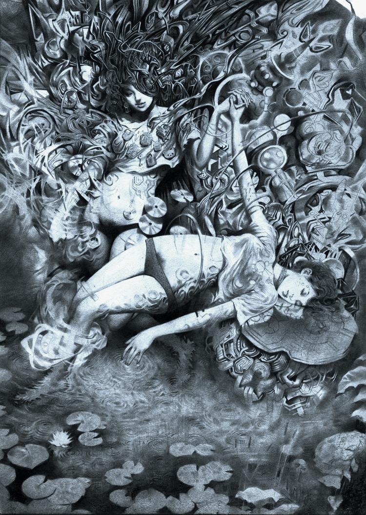 Miles Johnston, illustration, sketch, pencil, dark, obscure
