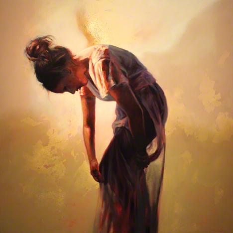 Steven Daluz, painting, dark, obscure, oils, oil paint