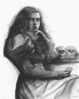 Steven Assael, drawing, illustration, dark, obscure, pencil