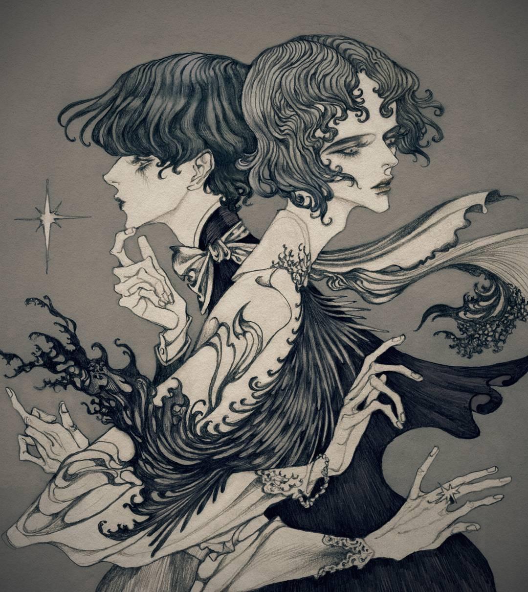 j.i.nnn, illustration, painting, obscure, dark