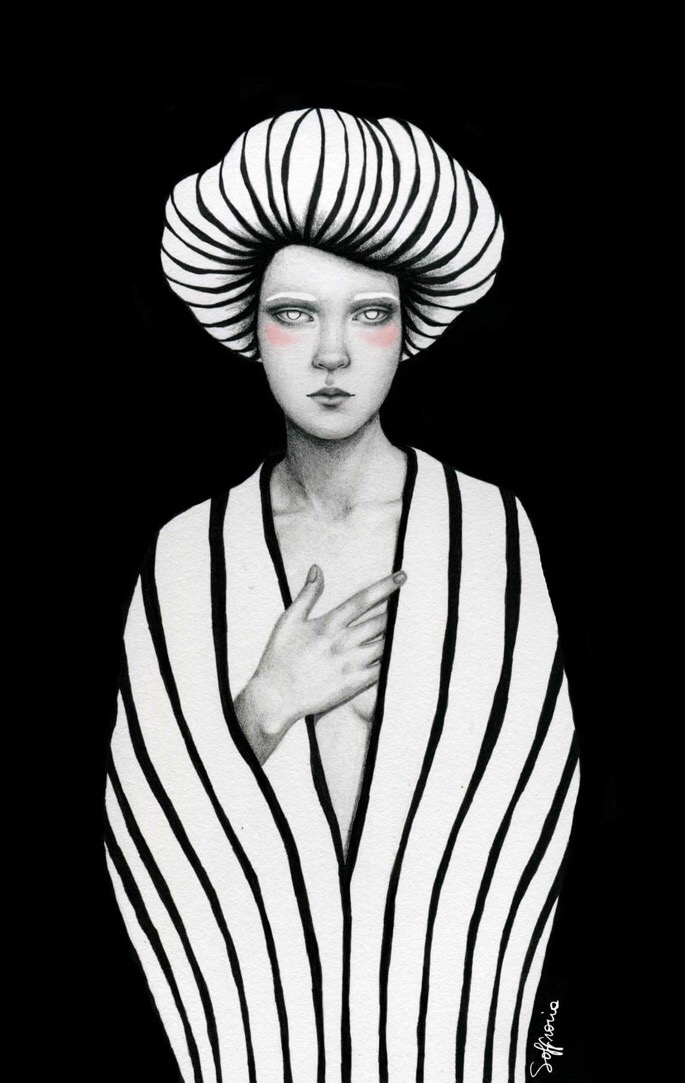 Sofia Bonati, illustration, dark, obscure, painting