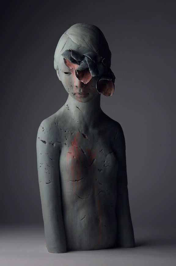Gosia, sculpture, dark, ethereal, obscure
