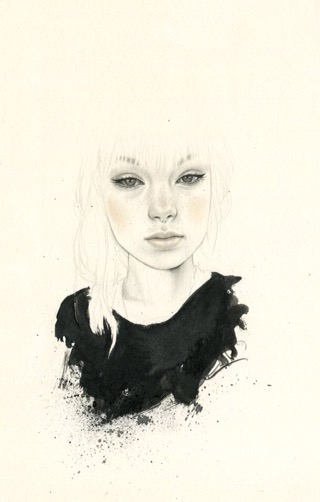 Sasha Ira, illustration, pencil, mixed media, dark, obscure, ethereal