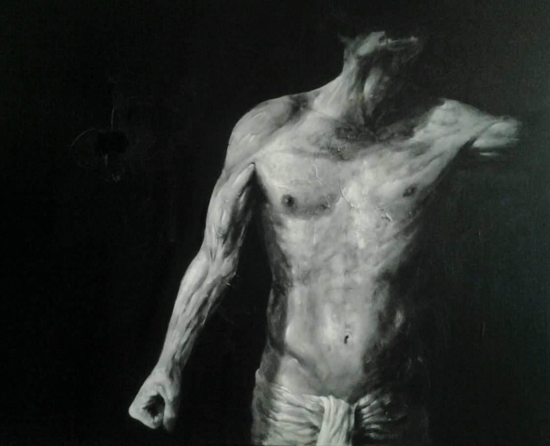 Benjamin Carbonne, painting, dark, obscure