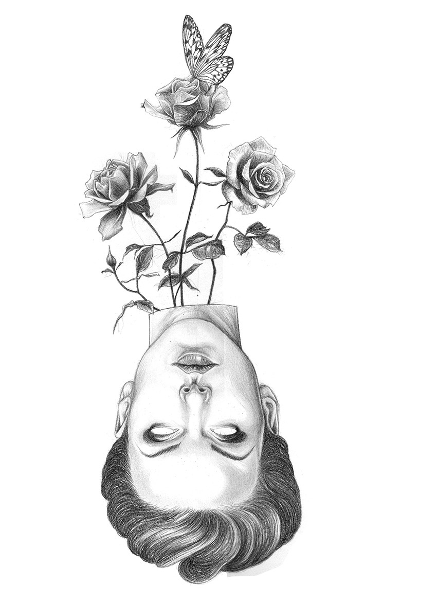 Ivan Salamanca, drawing, illustration, pencil, graphite, dark, obscure