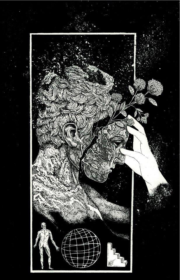 Bryan Proteau, illustration, pen, ink, dark, obscure