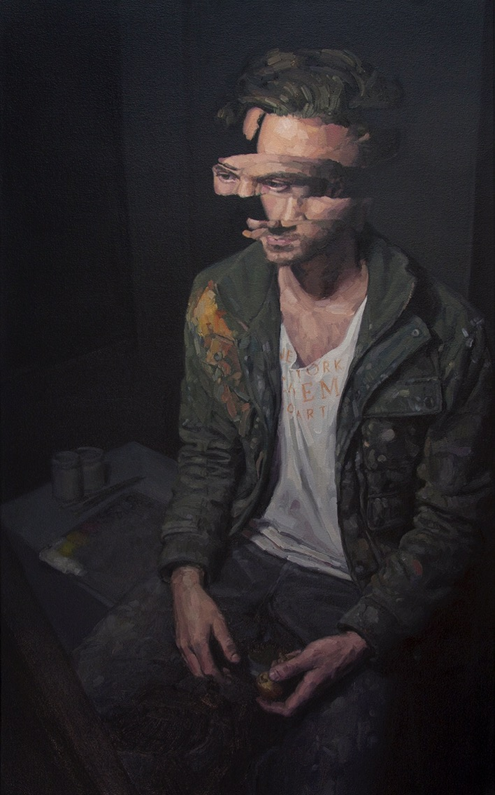 Adam Lupton, painting, oil, dark, obscure