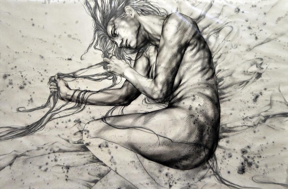 Emila Sirakova, illustration, painting, dark, art, obscure