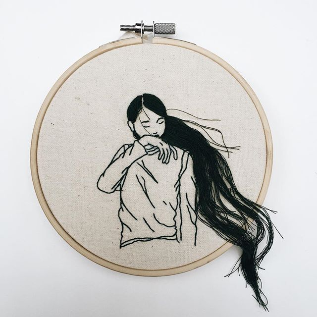 Sheena Liam, dark, obscure, embroidery, embroideryart, embroideryhoop, handembroidery