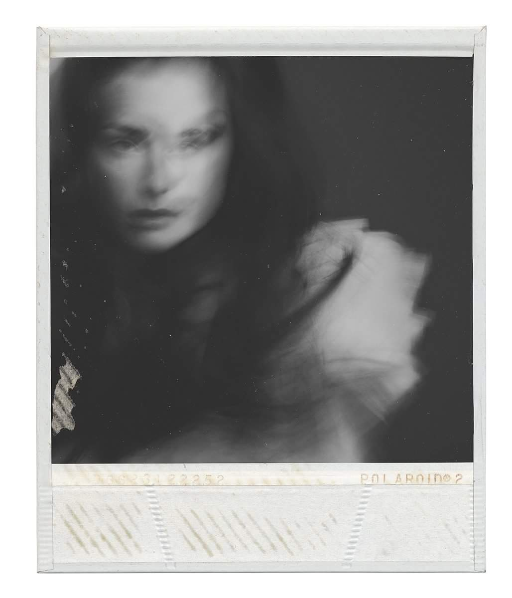 Oxana Mazur, photography, black and white, polaroid, instant, analog photography, dark, obscure