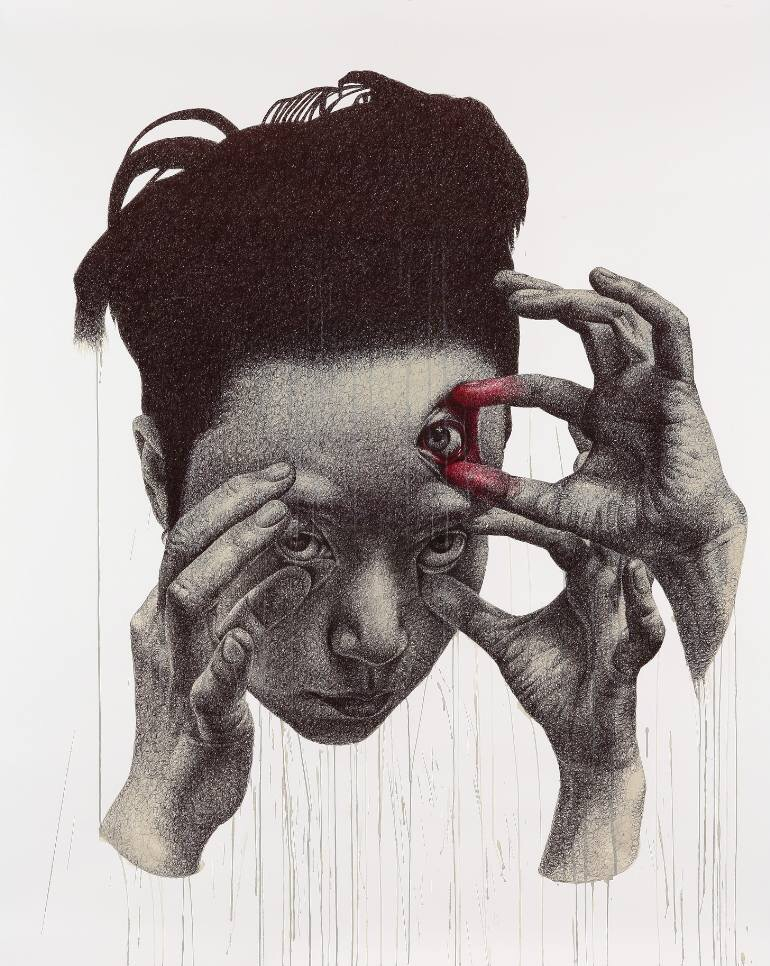 Seungyea Park, drawing, illustration, dark, obscure, surreal, conceptual