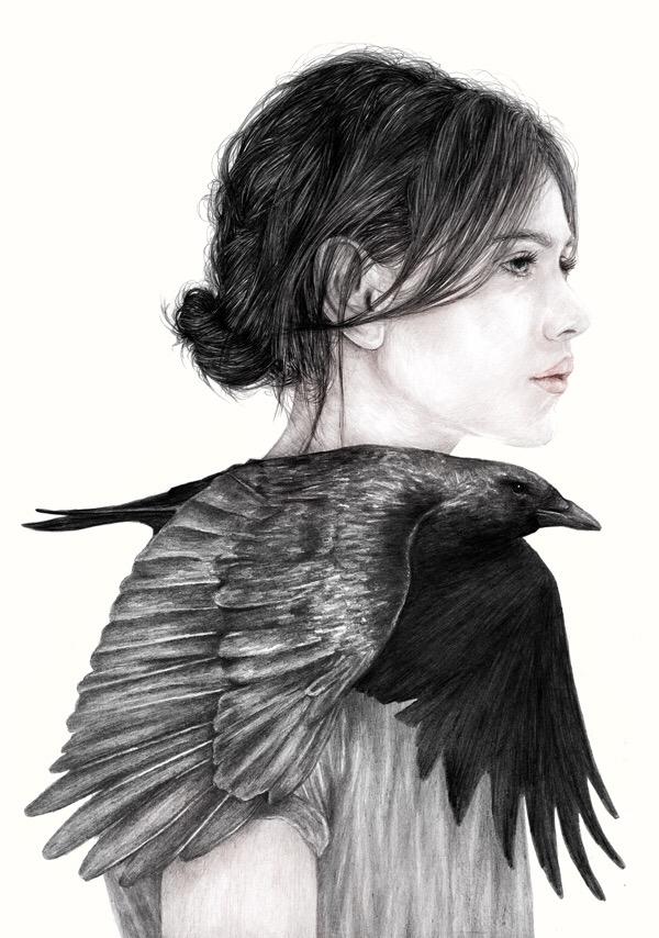 Elly Liyana Ruslan, illustration, dark, obscure, surreal, black and white