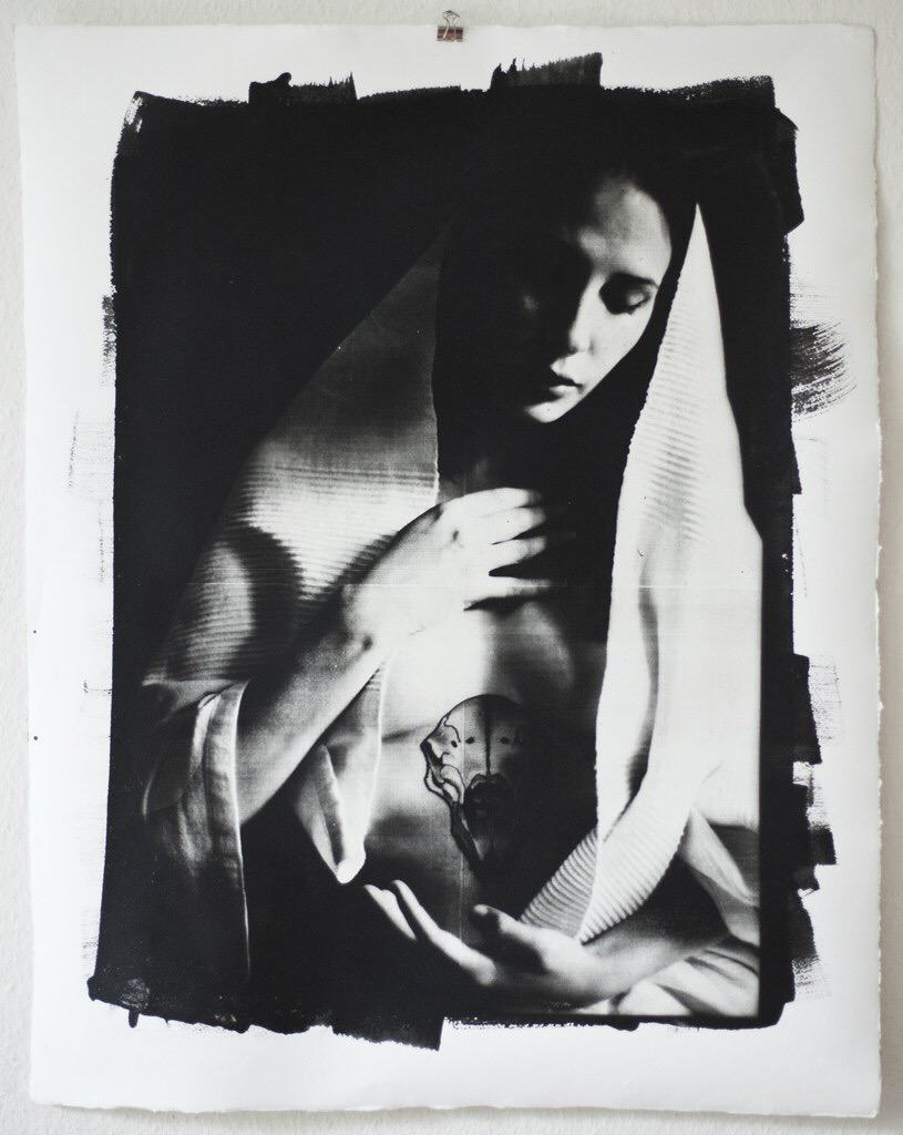 Andrea Ebener, photography, analog, black and white photography, dark, obscure, silver gelatin print