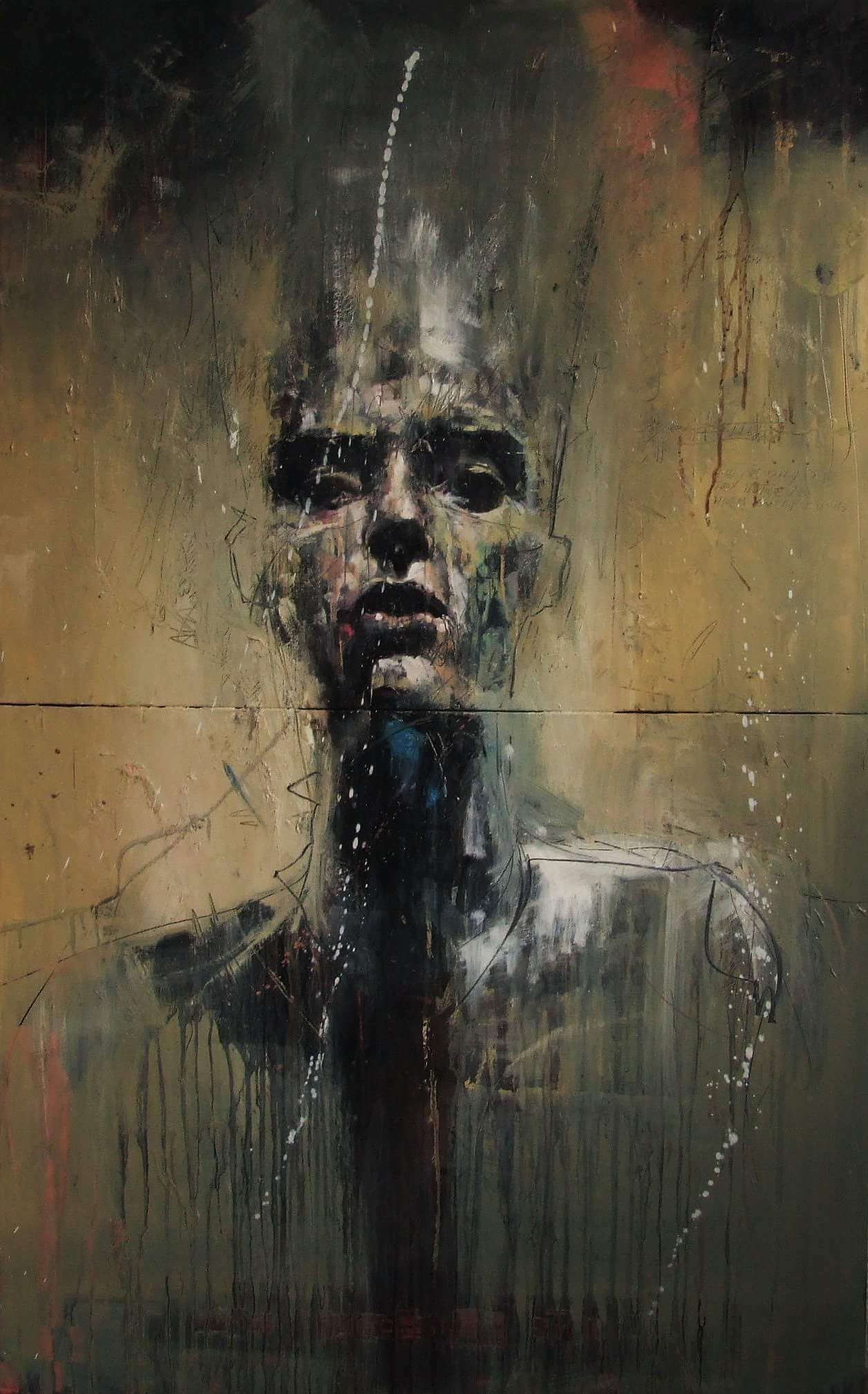 Guy Denning, painting, dark, art, obscure