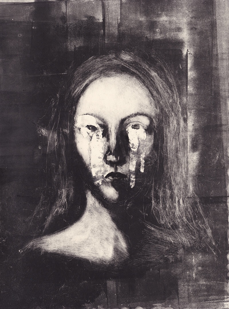 Sophie Lecuyer, monotype, dark, art, painting, obscure