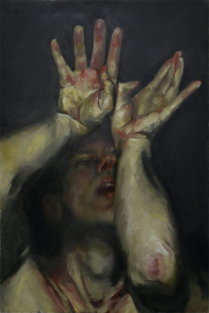 Louie Van Patten, painting, dark, obscure, paint