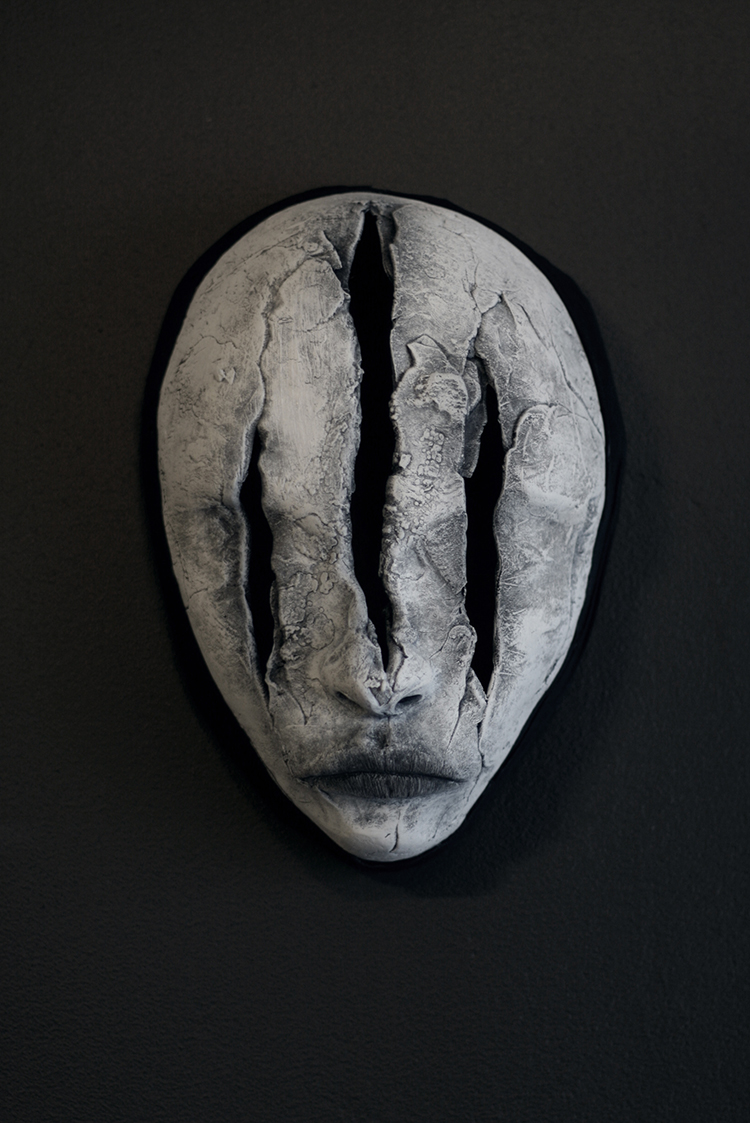 Axel Torvenius, mask, sculpture, dark, obscure, horror