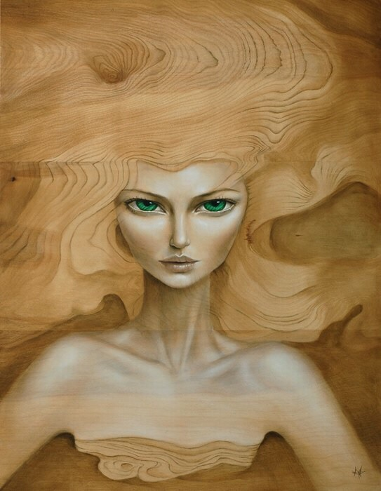 Mandy Tsung, painting, dark, obscure, surreal, pop surrealism