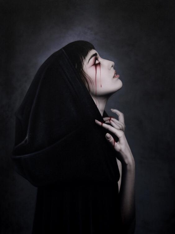 Jay Ferguson, painting, dark, obscure, airbrush, horror
