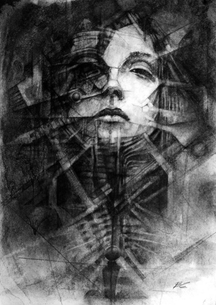 Nickbleb, dark, art, drawing, pencil, graphite, obscure