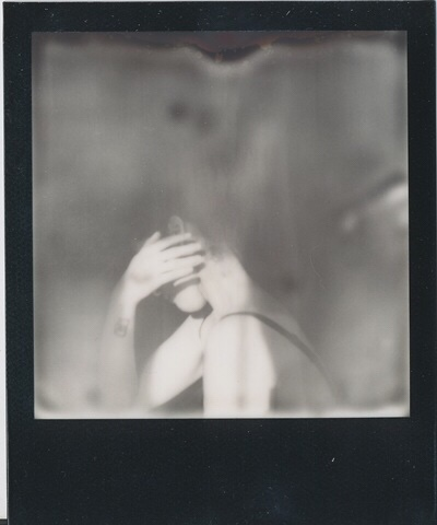 Celeste Ortiz, photography, polaroid, impossible, dark, art, ethereal, black and white photography, black and white