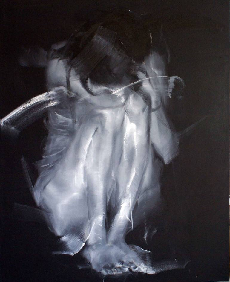 Zahang Haiying, painting, dark, art, obscure