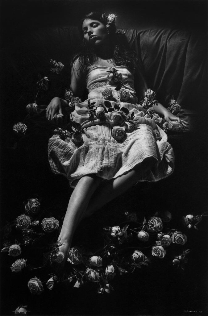 Emanuele Dascanio, drawing, pencil, graphite, dark, ethereal, obscure, black and white, art