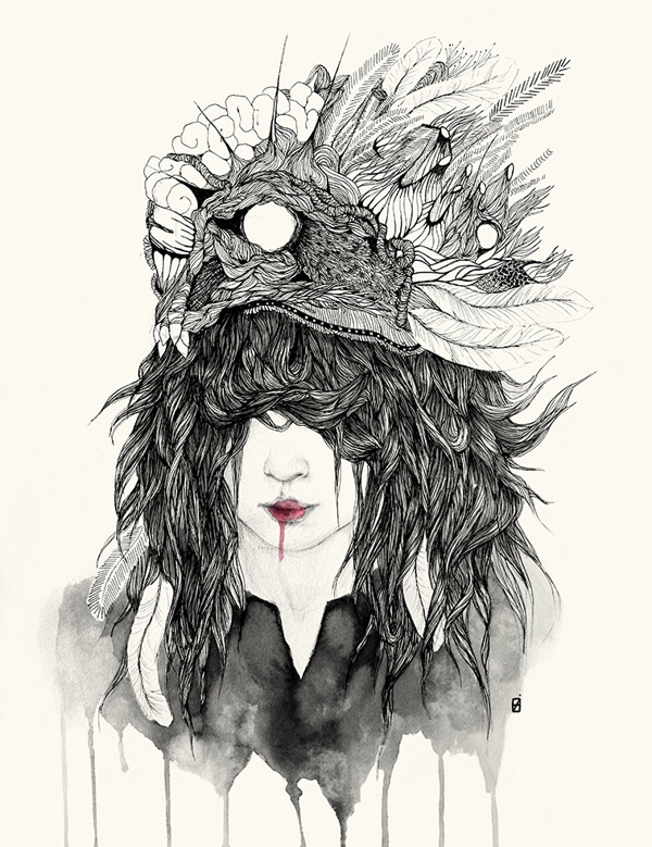 Elisa Ancori, art, dark, obscure, illustration, pop surrealism