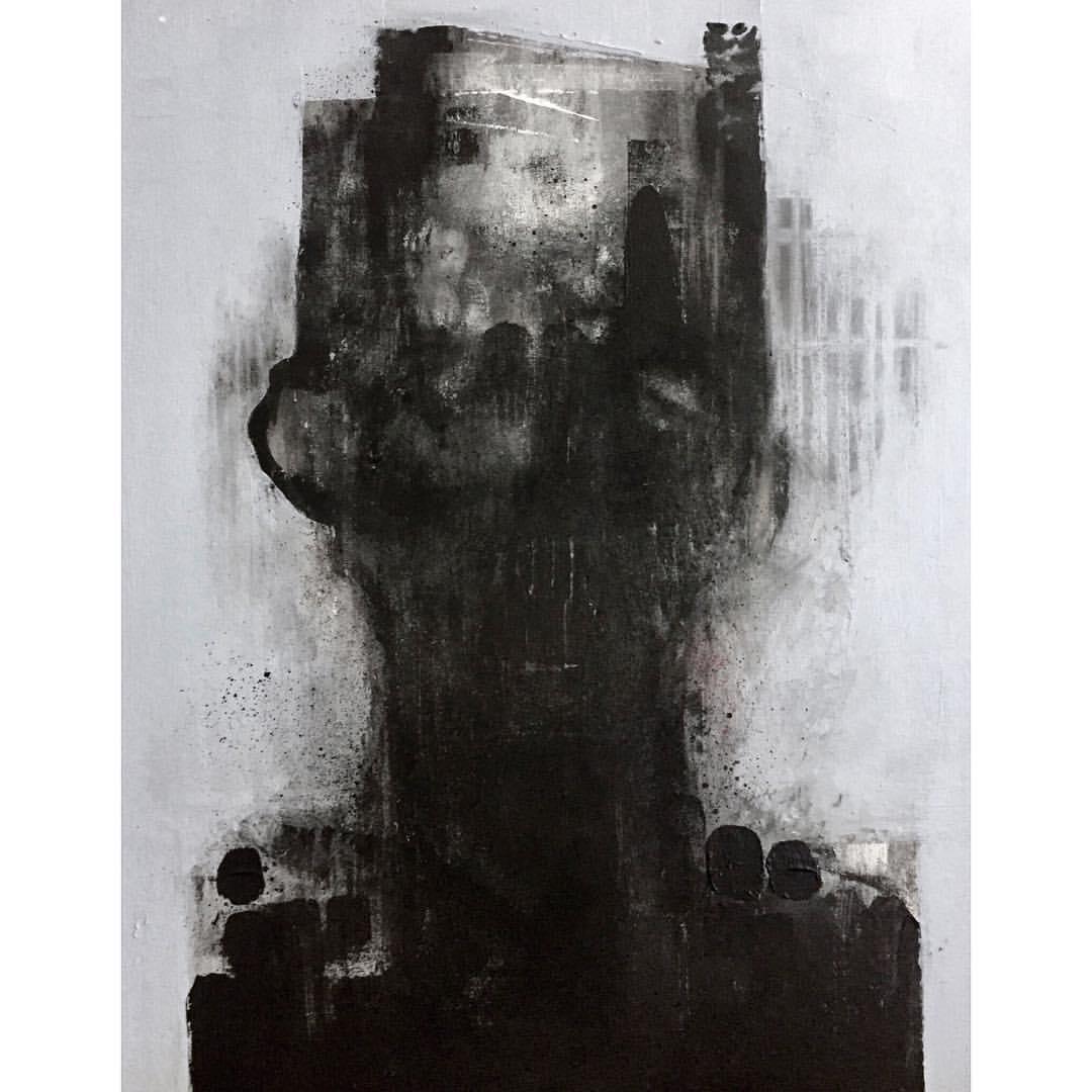 Schalk Van Der Merwe, art, painting, obscure, dark